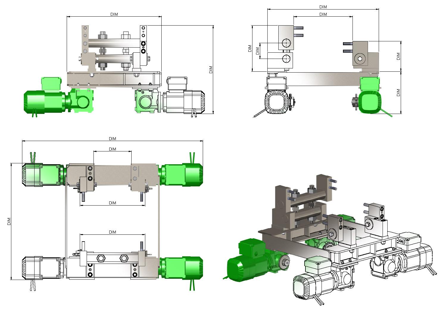 Uniwersalna stacja napędowa - szkice i rendery